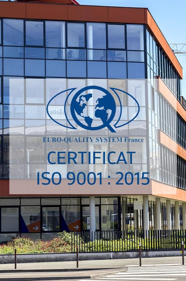 Calisea France est certifiée ISO 9001 pour ses services énergétiques